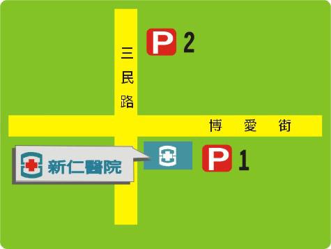 105-新仁停車場位置圖